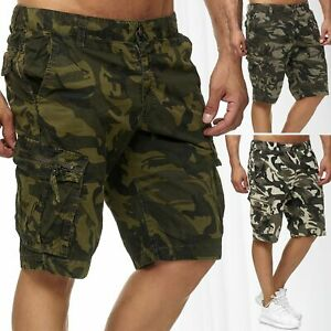 Pantaloncini-cargo-da-uomo-Pantaloni-corti-bermuda-mimetici-Men-039-s-3-4-Shorts