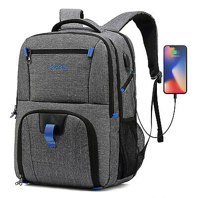 17.3 Inch Laptop Backpack Hiking Knapsack With USB Port Bag for Macbook Dell HP