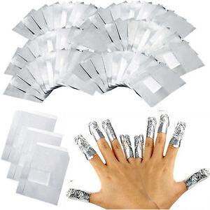 100-Pcs-Entferner-fuer-Manikuere-Nail-Polish-UV-Gel-Nagellack-Remover-Wraps-Folien