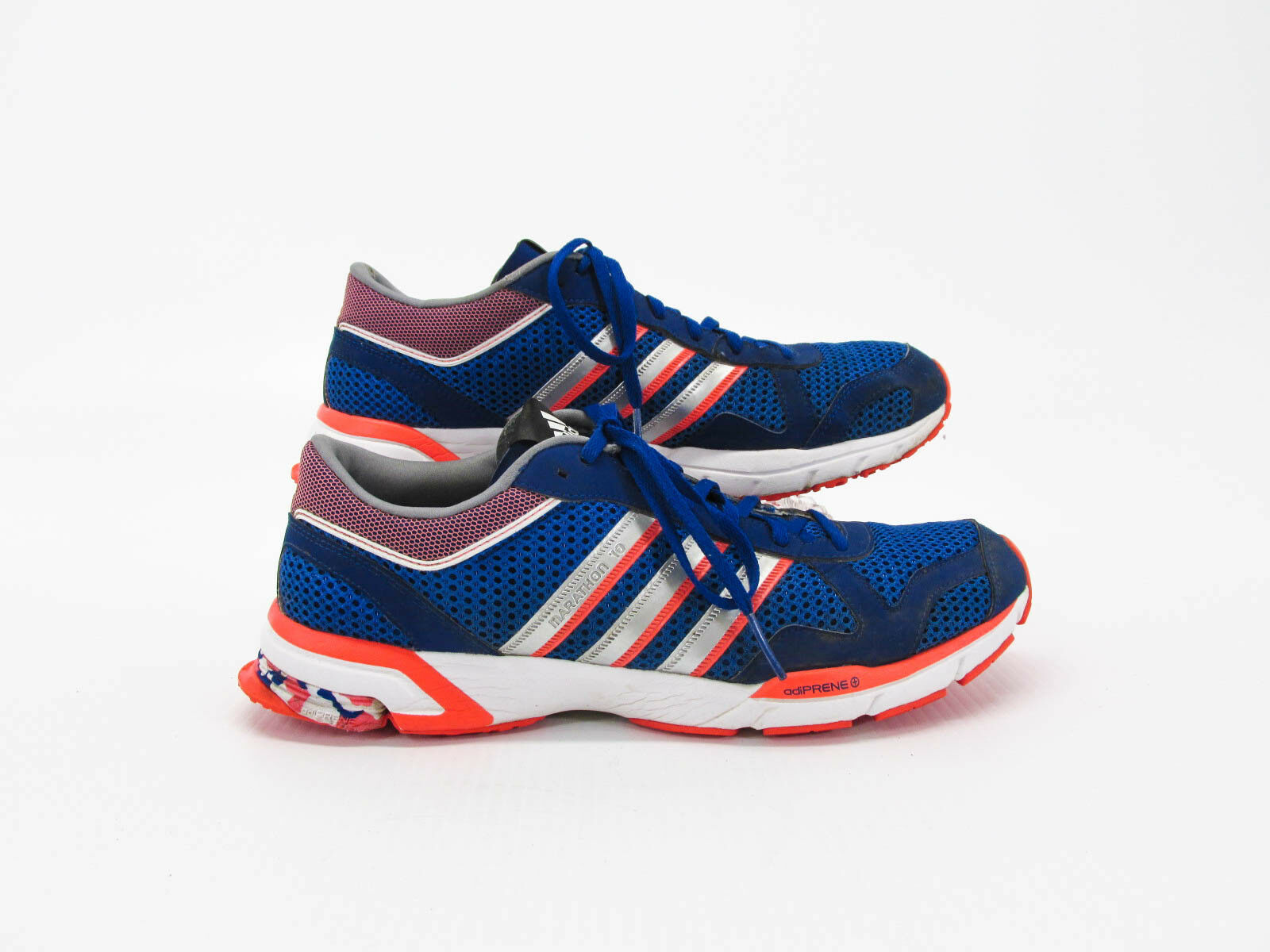 Adidas Marathon 10 Men bluee Athetic Running shoes Size 11M Pre Owned JJ