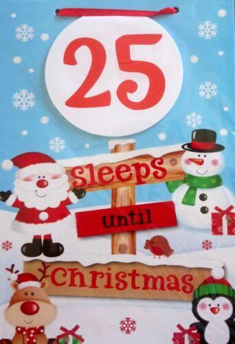 Countdown To Christmas 25 Sleeps Until Christmas Hanging Board Kids Xmas
