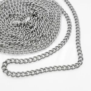 2M Stainless Steel Ball Chains Silver Tone For Necklace