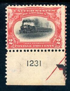 USAstamps-Unused-FVF-US-1901-Pan-American-Plate-Arrow-Scott-295-OG-MNH
