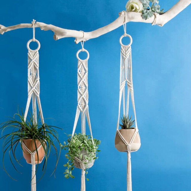 Ceramic Flower Pot Iron Holder Indoor Wall Hanging Planter Box Plant Stand Unit For Sale Online Ebay
