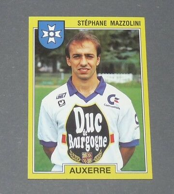 PANINI VIGNETTE STICKER FOOTBALL FOOT 92 N°12 AUXERRE STEPHANE MAHE