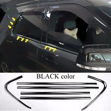 6*For 2011-17 Ford Explorer BLACK color stainless windows pillar side cover trim