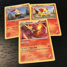 Pokemon 3-card Evolution Set Gastly Haunter Gengar for sale online