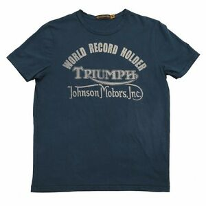 New triumph johnson motors record holder t shirt mens tee for Mens t shirts free shipping
