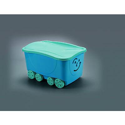 Spielzeugkiste mit Gesicht und Deckel Stapelboxen Kunststoffboxen Box Spielzeug