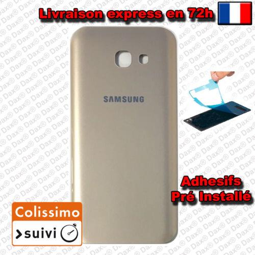 CACHE COQUE VITRE ARRIERE OR GOLD POUR Samsung Galaxy A5 2017 A520 Avec Logo