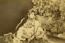 Photo Albuminé Jeune Fille Ouled NailAlgérie Vers 1880