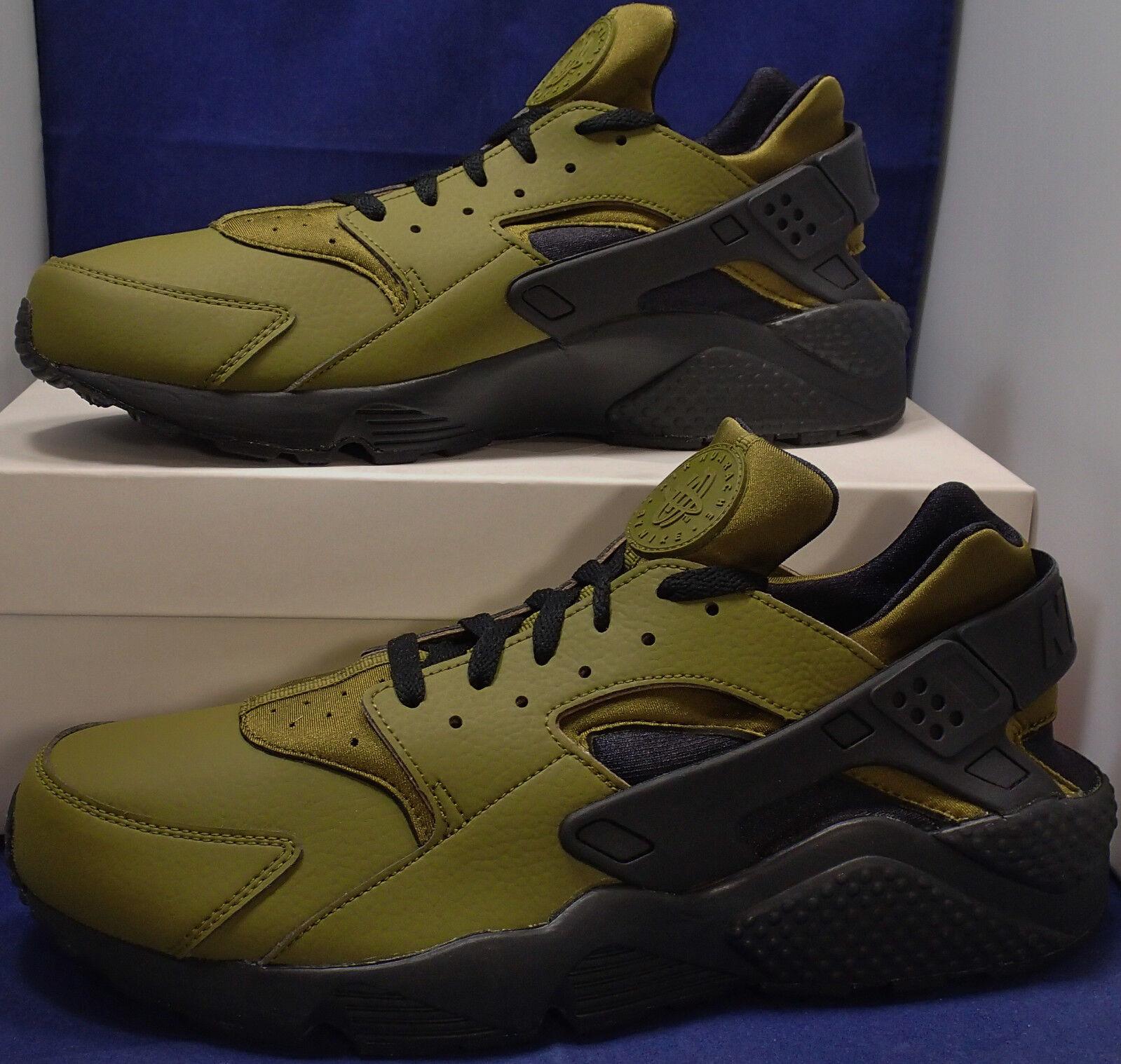 Nike Air Huarache Run iD Dark Olive Green Black SZ 13 ( 777330-985 )