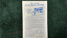 LIONEL # 128 ANIMATED NEWSSTAND INSTRUCTIONS PHOTOCOPY