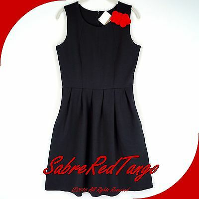 NWT HANNA ANDERSSON DRESS THE PART LITTLE BLACK PARTY DRESS 6