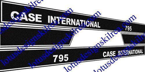 case international 795L decals stickers