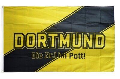 Fahne Dortmund Kreuz Fan Hissflagge 150 x 250 cm Flagge