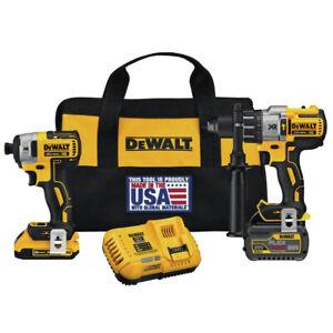 DEWALT-20V-MAX-Li-Ion-Hammer-Drill-and-Impact-Driver-Combo-Kit-DCK299D1T1R-recon