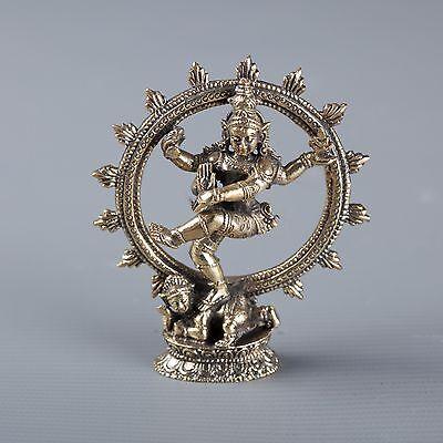 "Small Minature Thailand Brass Dancing Shiva statue as Lord Nataraja - 7.5cm(3"")"