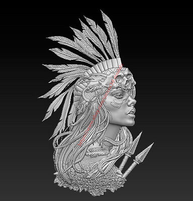 3D Model for CNC Router STL File Artcam Aspire Vcarve Wood Carving IS851