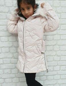 NUOVO-Autentico-ELSY-RRP-279-eta-6-anni-Girls-Rosa-Pelliccia-Down-Jacket-Coat-JK15
