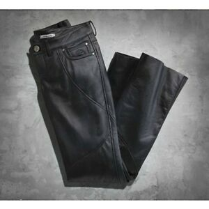 8051cb528 Image is loading Harley-Davidson-Womens-Highland-Contoured-Boot-Cut-Black-