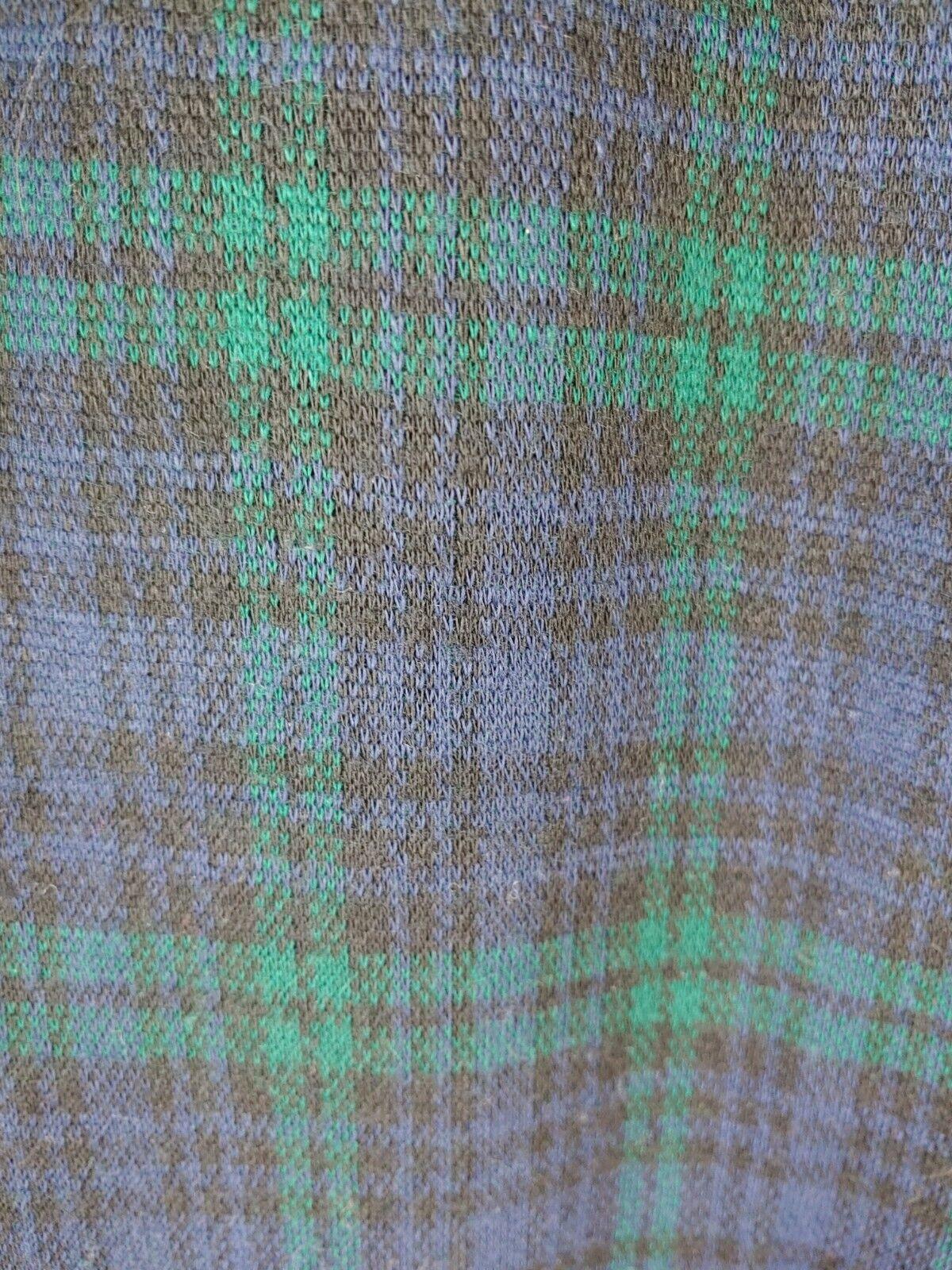 Vintage Navy & Green Plaid Knit Pants - image 3