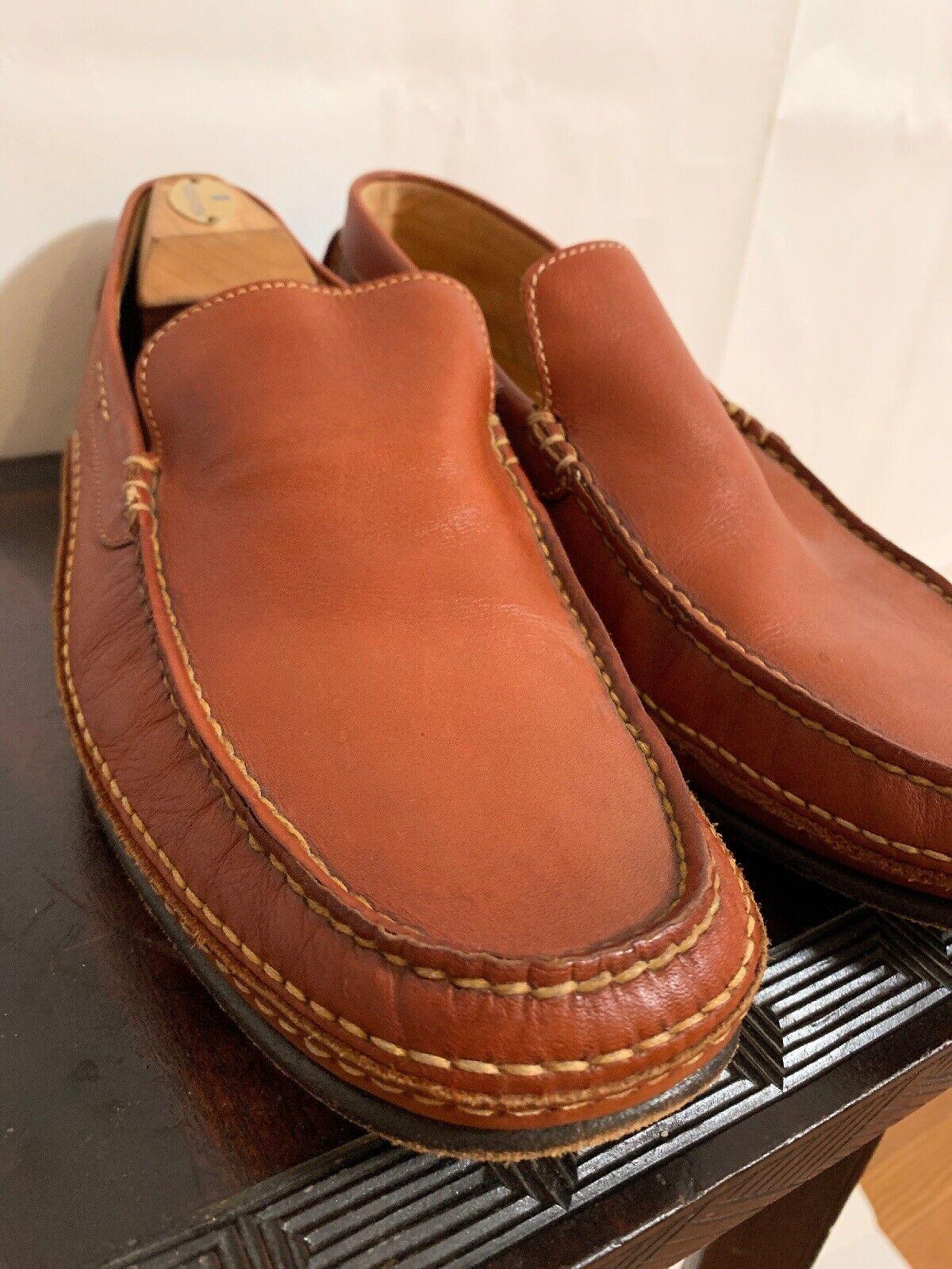 A. TESTONI Daim Mocassins à Enfiler Chaussures de l'Italie Occasion fabricants Standard prix de détail  395 Wow  - 10.5 m