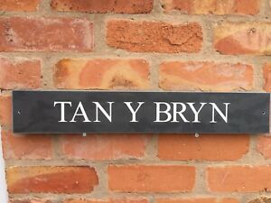 FANTASTIC-QUALITY-SLATE-HOUSE-SIGNS-600-X-130MM-ANY-NAME-NUMBER-GOLD-LETTERS