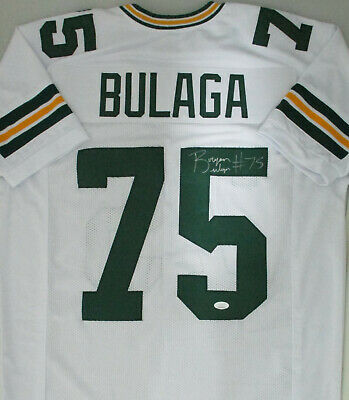 Packers BRYAN BULAGA #75 Signed White Custom Replica Jersey AUTO - JSA | eBay