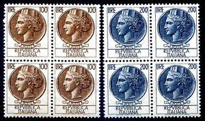 ITALIA-1959-SIRACUSANA-Lire-100-200-QUARTINA-NUOVA