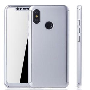 Xiaomi-mi-8-Funda-Estuche-Movil-Protector-Carcasa-Folio-Panzer-9H-Plata