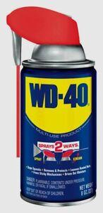 8-oz-WD-40-Multi-Purpose-Lubricant-w-Smart-Straw-Spray-Two-Ways-NEW-490026