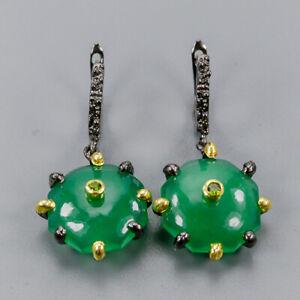 Onyx-Earrings-Silver-925-Sterling-Fashion-Earrings-Women-E41050