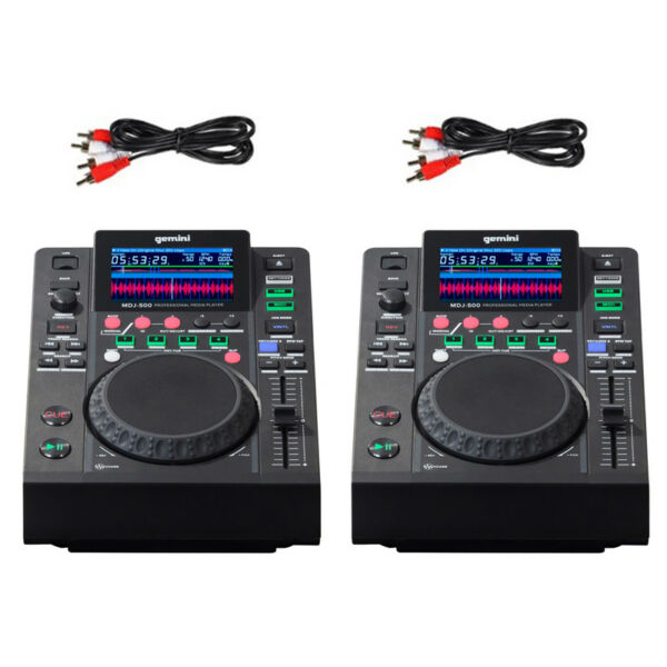 2 X Gemini Mdj-500 Usb Mp3 Media Player Dj Software Controller 24-bit Soundcard Aromatische Smaak
