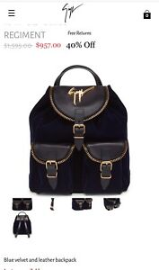 0ca9392a18d35 Image is loading NWT-Authentic-Giuseppe-Zanotti-Regiment-Backpack-Bag-1-