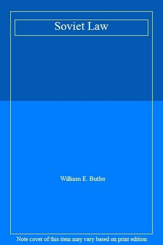 Soviet Law,William E. Butler