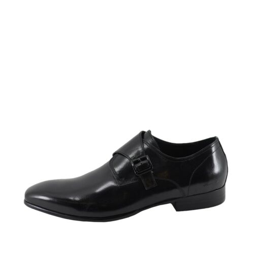 Men/'s Shoes Kenneth Cole New York Well Polished Leather Loafers Black *New*