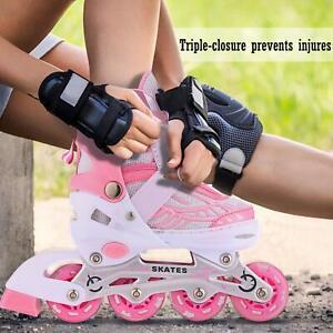 Adjustable-Kids-Roller-Blades-Inline-Skates-Kid-Skate-Light-Up-Flash-Whees