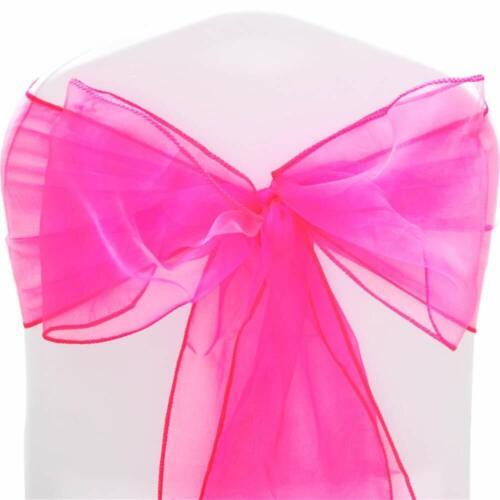 LUXE 2X Rose Chaud Organza Tissu Rouleau pour les mariages fêtes Noël Chaise Bows