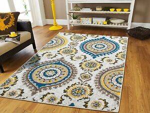 Large rugs blue modern contemporary area rugs 8x11 blue for Garden room 2x3