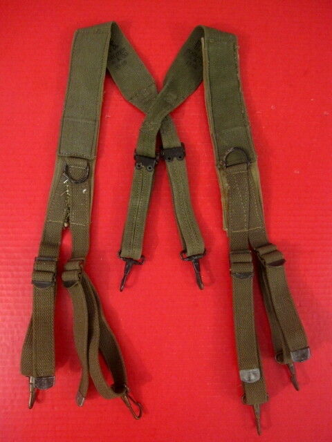 clearance sale on feet images of latest discount WWII Original US Army M1944 1st Pat Combat Field Suspenders w/Shoulder Pad  1945