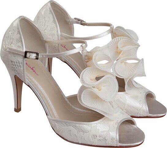 Ladies Rainbow Club - Kate Ivory Shoes Size 3 Uk Rrp