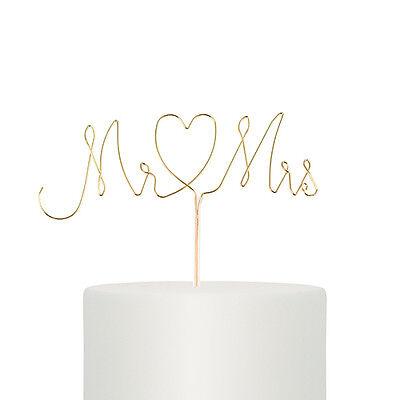 Wedding Cake Pick Wedding Cake Topper Twisted Wire Mr /& Mrs