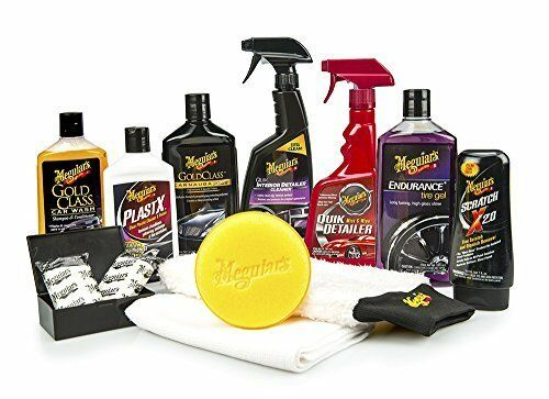 Car Care Kit Complete for Cleaned Shiny and Predected Inside and Out 12 Pieces