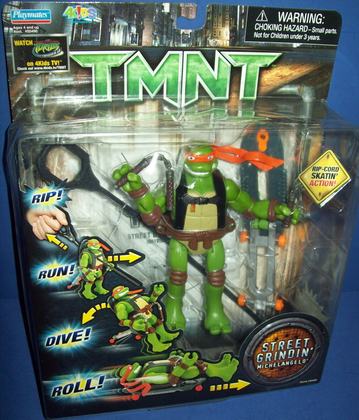 Tmnt teenage mutant ninja turtle michelangelo straße grindin abbildung neues moc