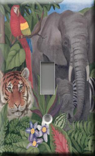 Dark Jungle Single Light Switch Plate Cover