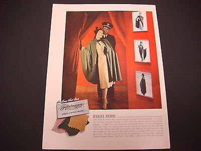 1941 Forstmann Woolens with Neat Vintage Outfit Original Advertisement or Old Life Magazine Cover with Brazil\u2019s Top Dancer