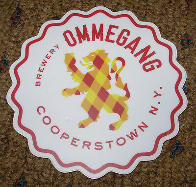 OMMEGANG ABBEY BREWERY promo die-cut LOGO STICKER craft beer brewery Cooperstown