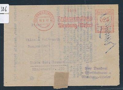 weser Meter Afs Nienburg 26336 Kreisverwaltung...24pf Faltbrief 1947