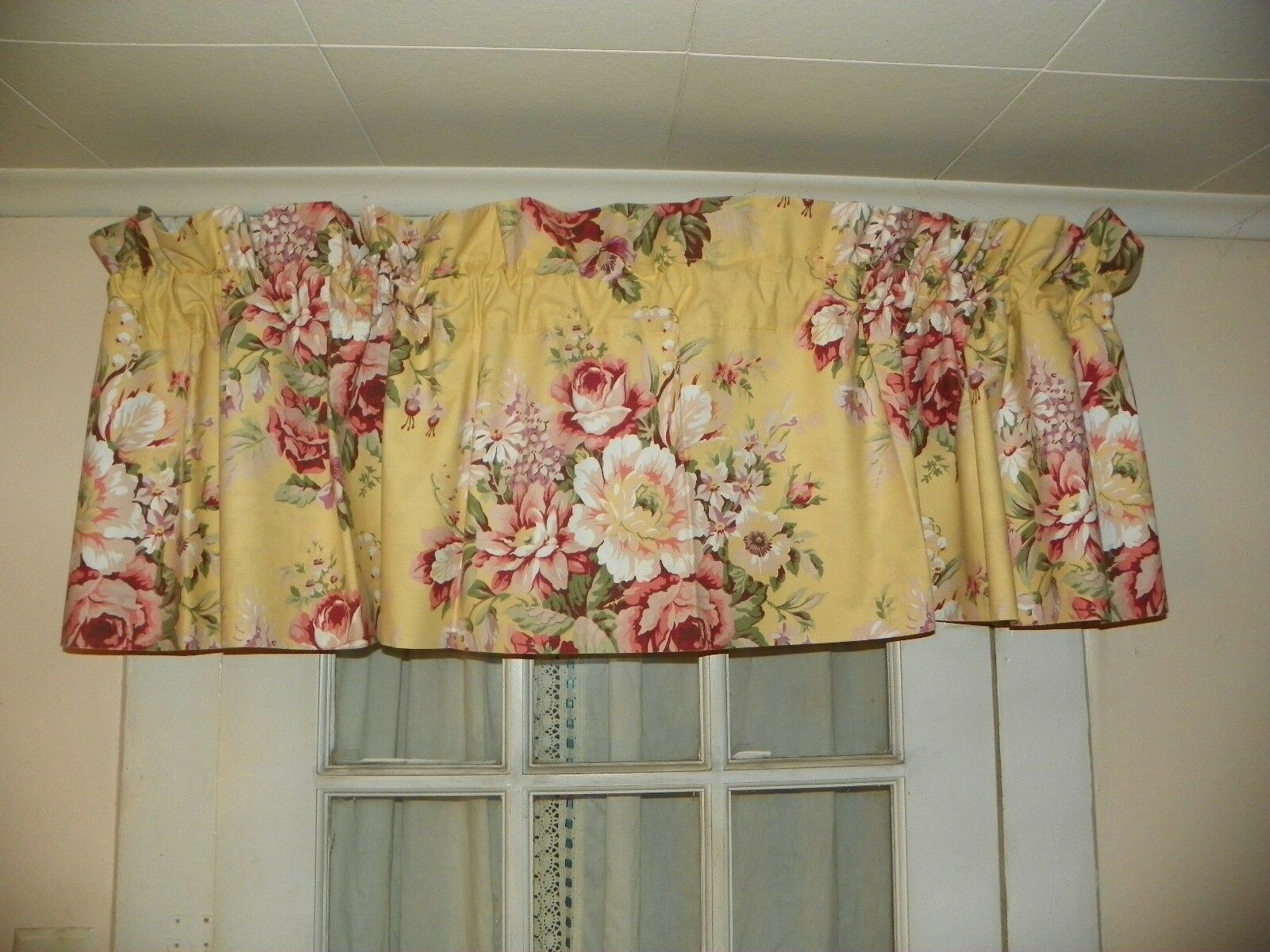 RALPH LAUREN- BROOKE  STRAIGHT VALANCE-4  AVAILABLE-SELF LINED-COTTON